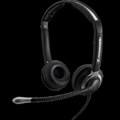 Sennheiser CC 550 Stereo Headset mit Kopfbügel und XL Ohrpolstern